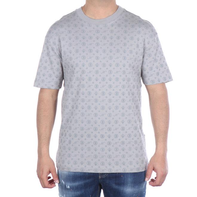 Banlieue | T-shirt grijs met patroon | T-shirt All Over Pattern Grey