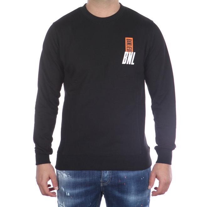 Banlieue   Crewneck Sweater Script Black