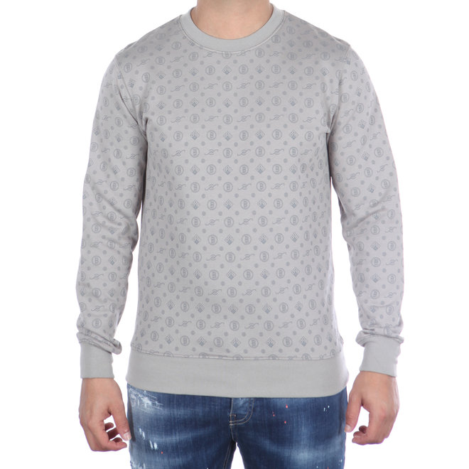 Banlieue | Crewneck Sweater All Over Pattern Grey