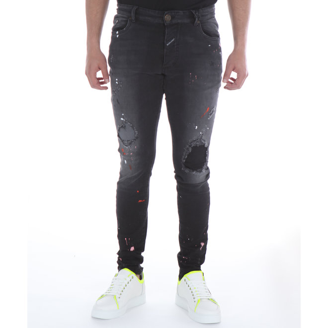Boragio | Jeans 7410 5 Pocket Black