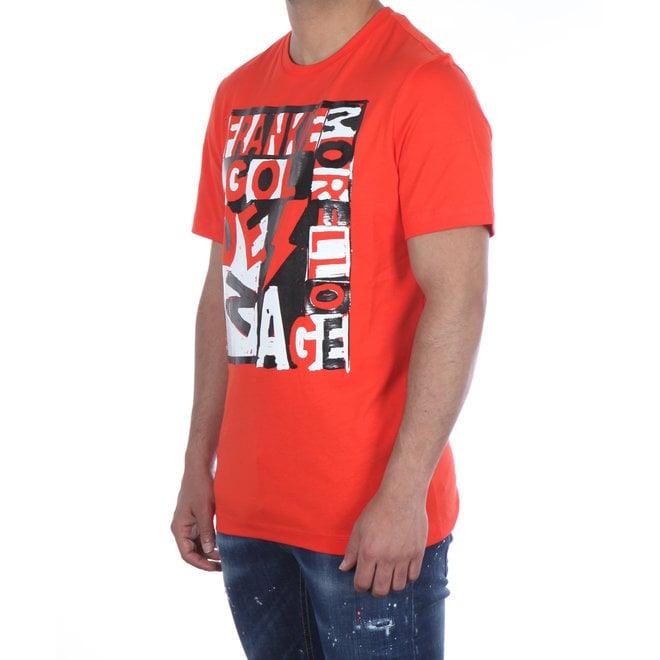 Frankie Morello | T-shirt Rood met Print | FMS0722TS