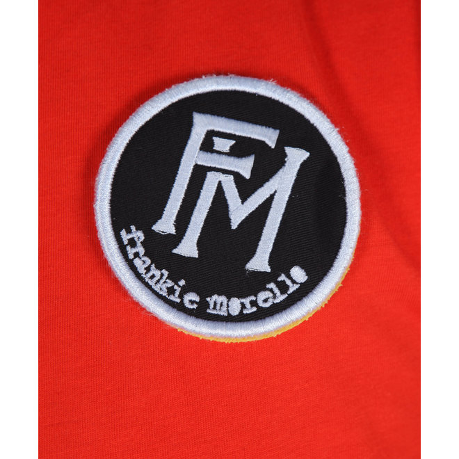 Frankie Morello | Polo Rood met Zwart | FMS0750PO