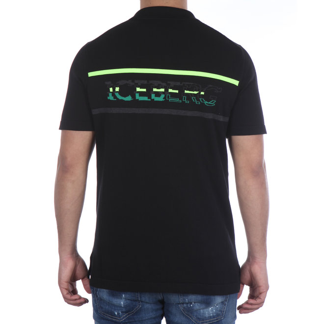 Iceberg | Polo | Zwart met logo groen