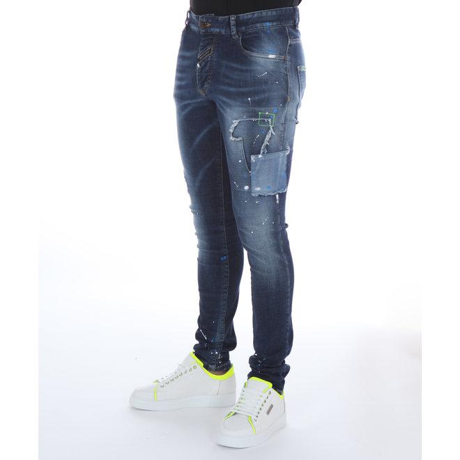 Boragio   Jeans 7417 5 Pocket   Blauw
