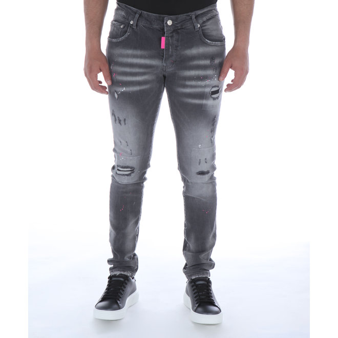 My Brand | Grey Faded Pink Spot Jeans