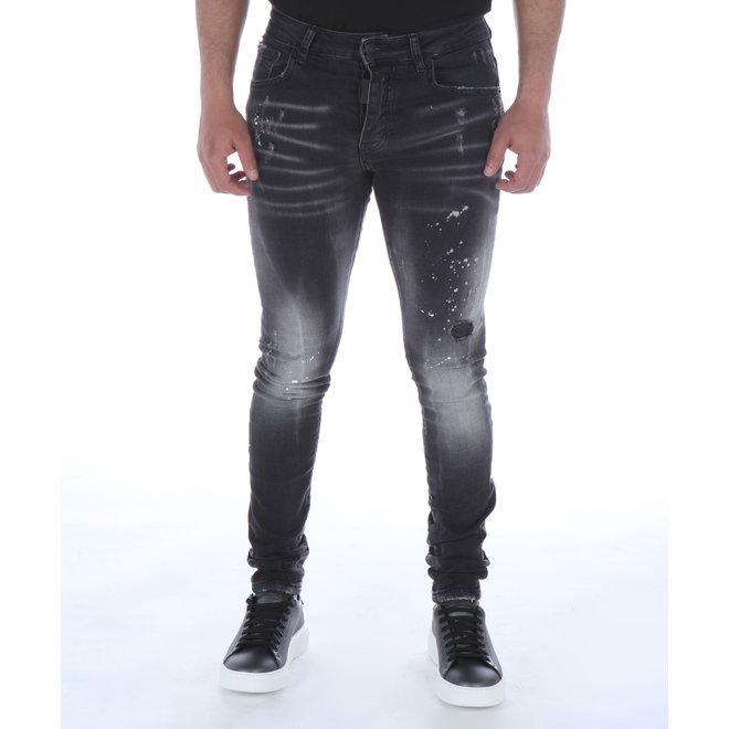 My Brand | Jeans grijs met verfspatten