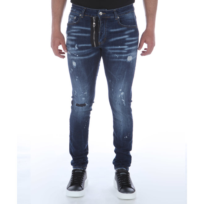 My Brand | Dark Blue Base Zipper Jeans