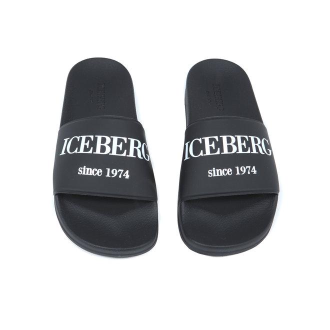 Iceberg | Slippers zwart|  20EIU1302