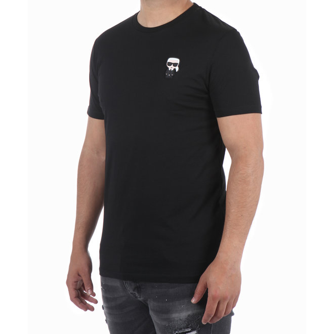 Karl Lagerfeld | T-shirt basic zwart basic | 755045 592223 990