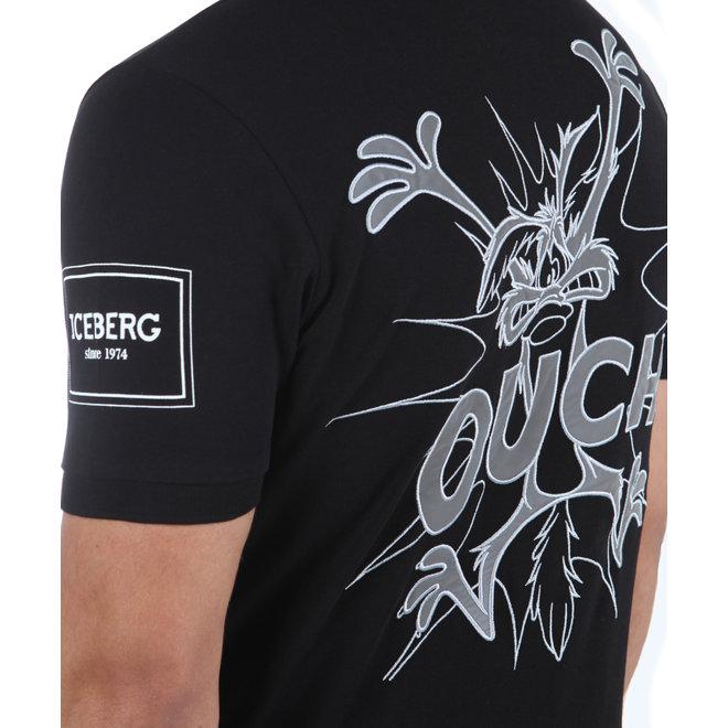 Iceberg | Basic Polo SS20 zwart met Looney Tunes Wile E Coyote
