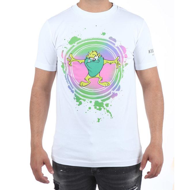 Iceberg | Colourful Tasmanian Devil T-shirt Wit
