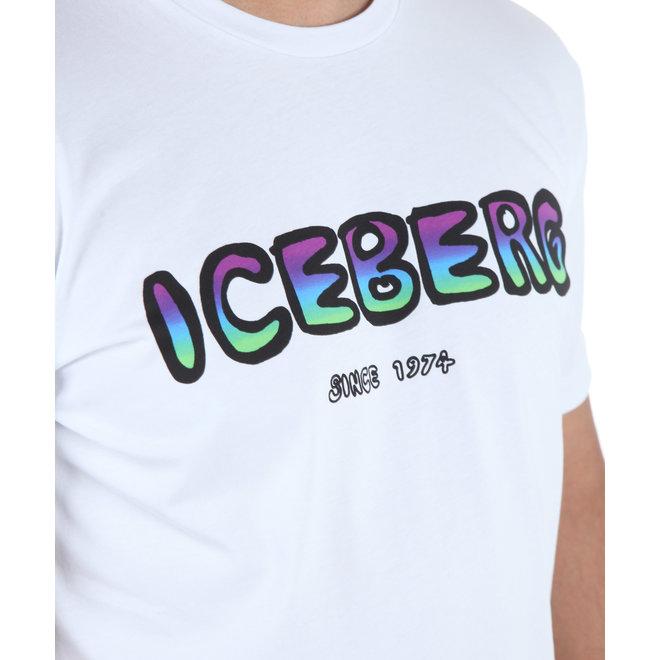 Iceberg | T-shirt wit met gekleurd logo
