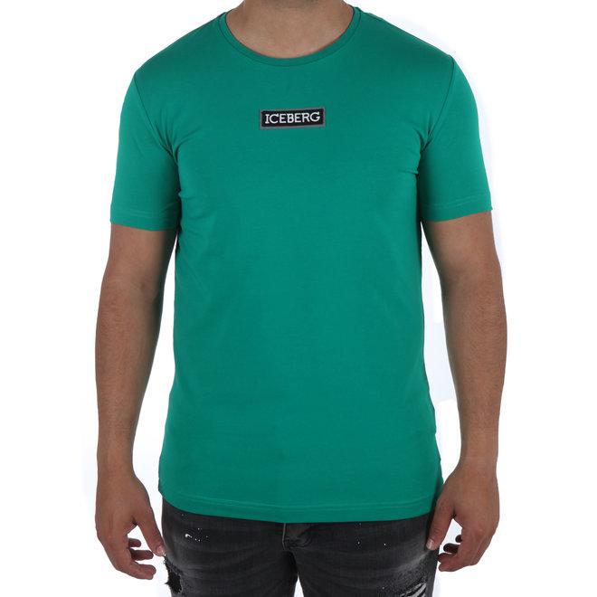 Iceberg | T-shirt groen met logopatch