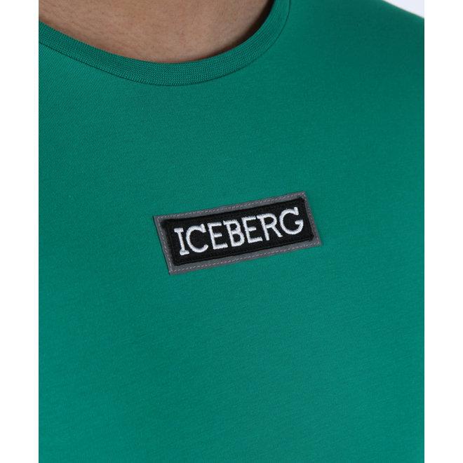 Iceberg | T-shirt Verde Smeraldo met logopatch