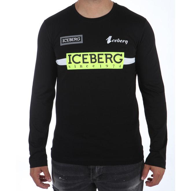Iceberg | Longsleeve zwart met logo's
