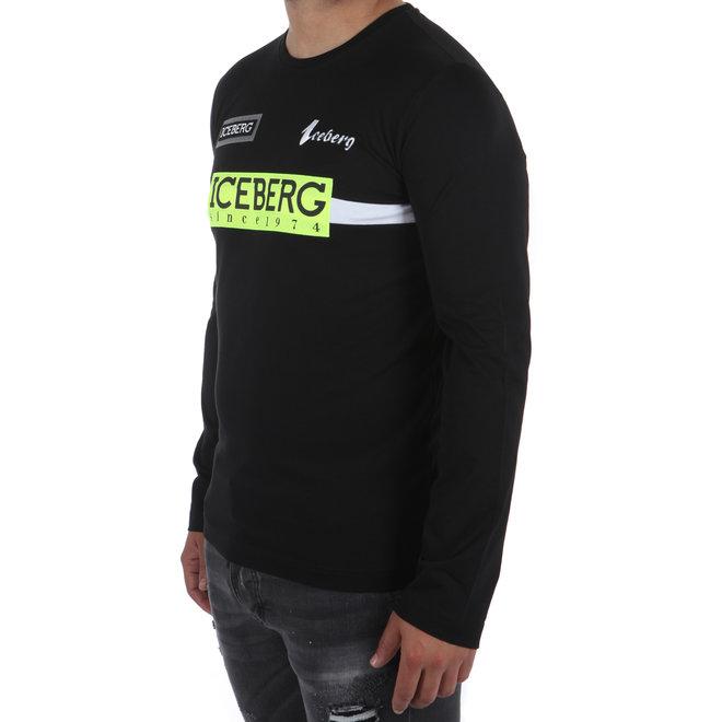 Iceberg | Sweater zwart met logo's