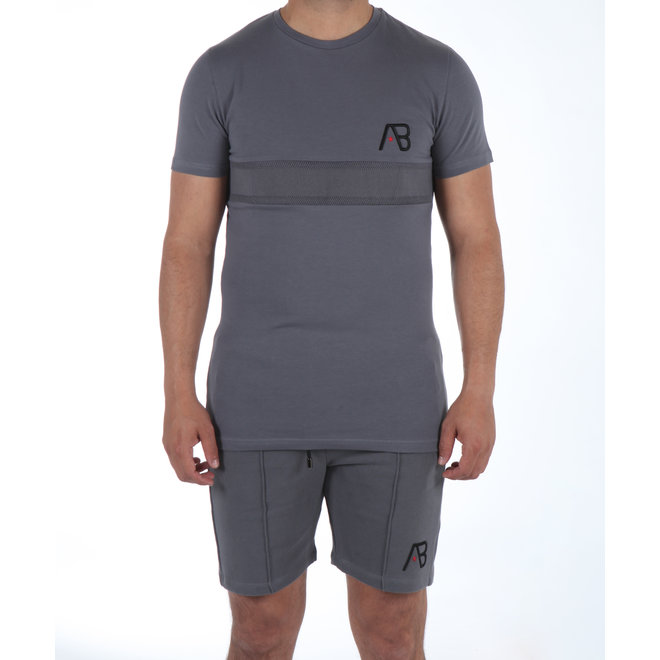 AB Lifestyle | Embroidery Shorts Grey