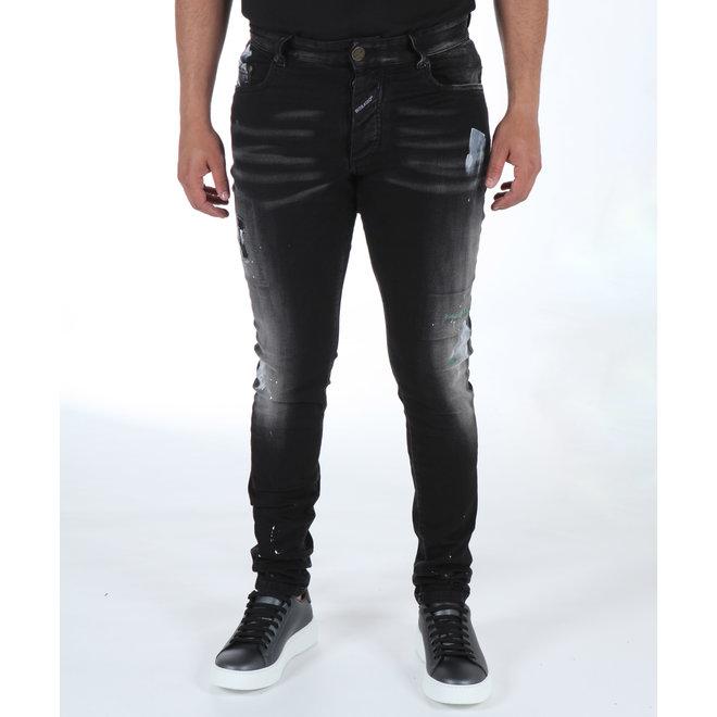 Boragio | Jeans 7568 - Zwart