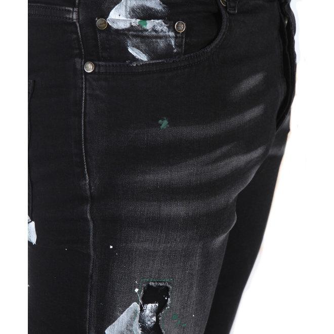 Boragio | Jeans 7568 Black