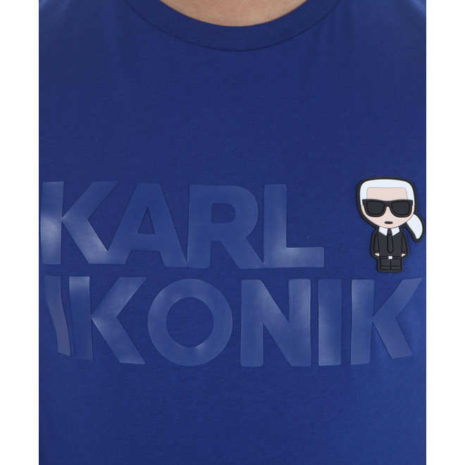Karl Lagerfeld | T-shirt Karl Ikonik blauw