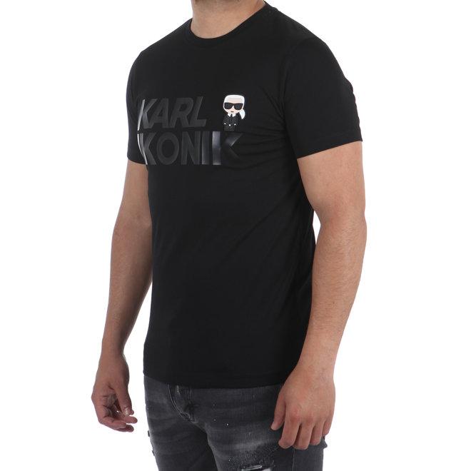 Karl Lagerfeld   T-shirt Karl Ikonik   Zwart
