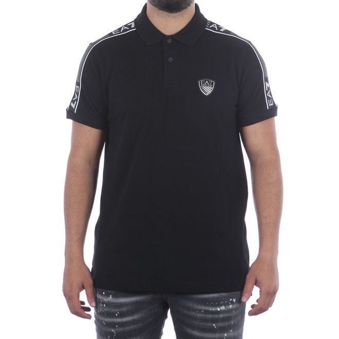 EA7 | Polo logo shirt | Zwart | 6HPF11 PJ4MZ 1200