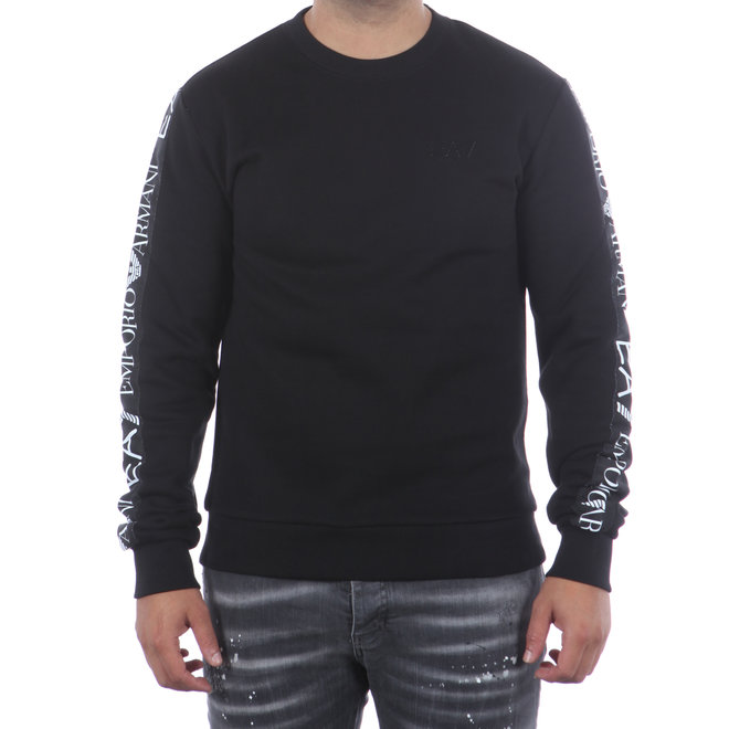EA7   Zwarte sweater met logo band