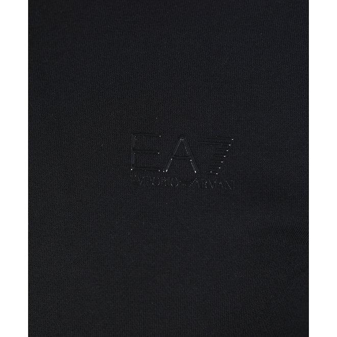 EA7   Zwarte heren sweater met logo band op mouw   6HPM11 PJ07Z 1200