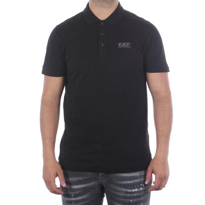 EA7 | Zwarte basic polo