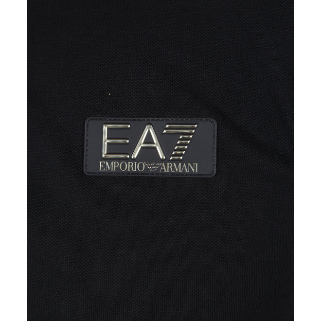 EA7 | Zwarte basic polo met logo | 6HPF10 PJ5AZ 1200
