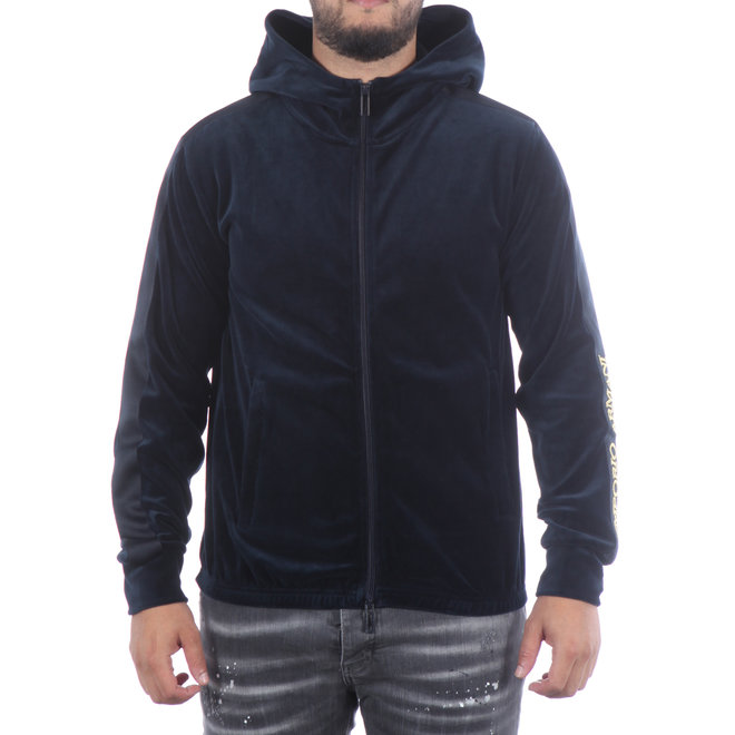 Emporio Armani | Vest met capuchon donkerblauw