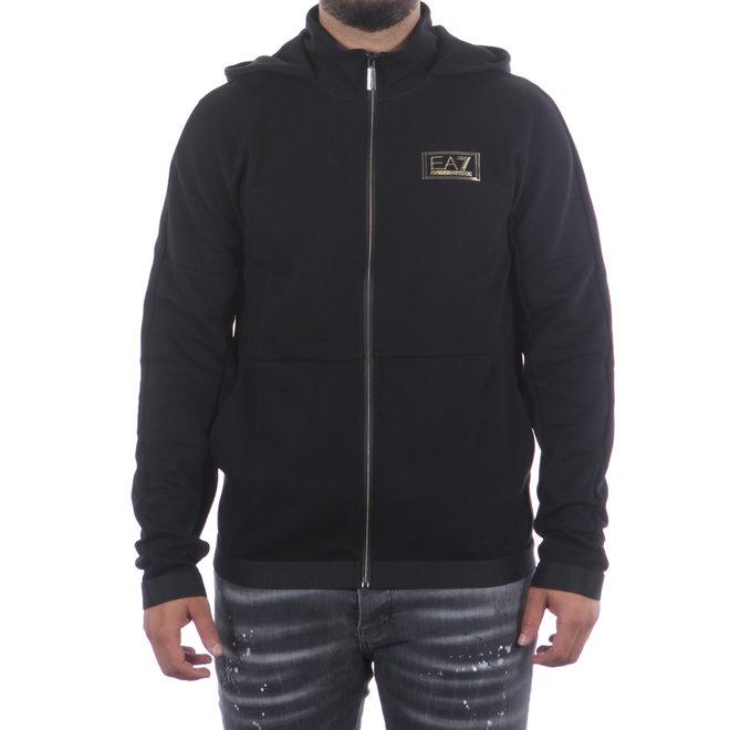 EA7 | Zwart vest met capuchon