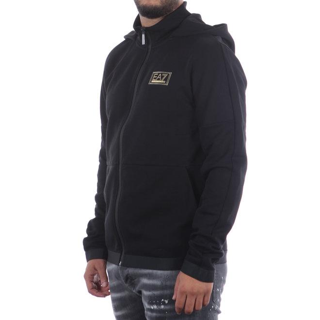 EA7 | Zwart vest met logo | 6HPM74 PJF3Z 1200