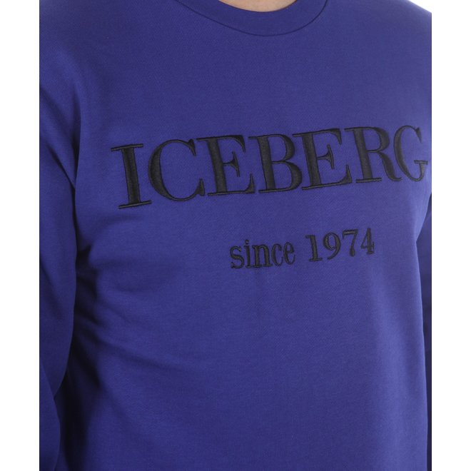 Iceberg | Trui paars met logo zwart