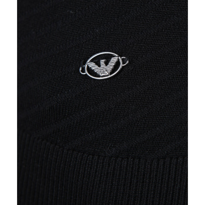 Emporio Armani | Zwarte knitwear coltrui