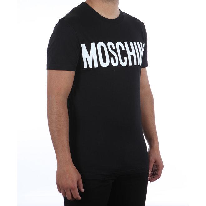 Moschino | Zwart T-shirt met wit logo