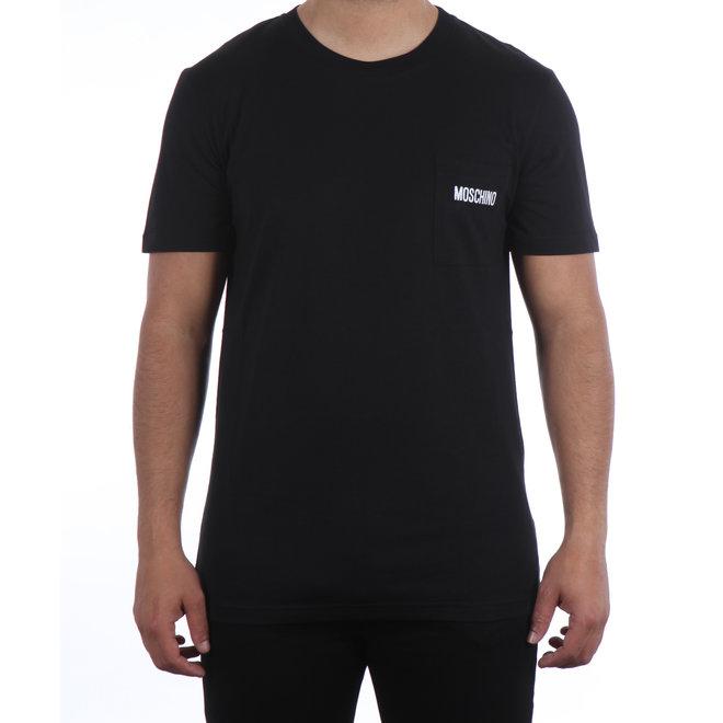 Moschino | T-shirt met borstzak zwart