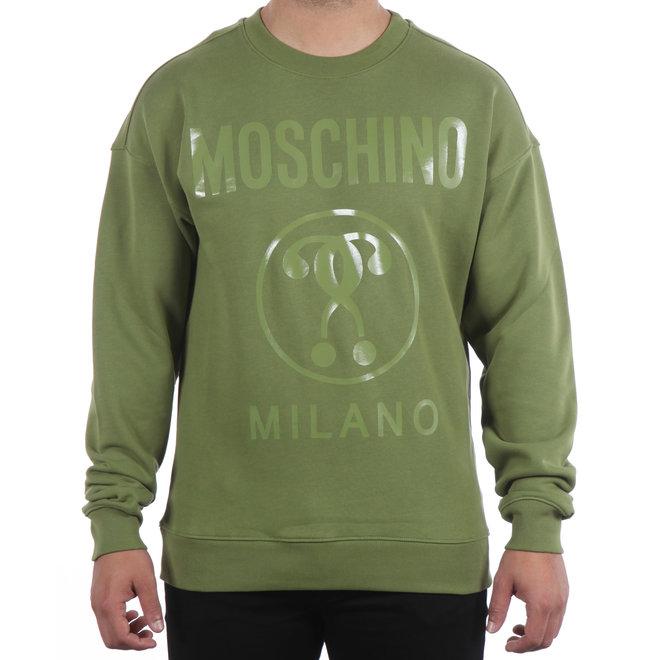 Moschino | Sweater groen met opdruk