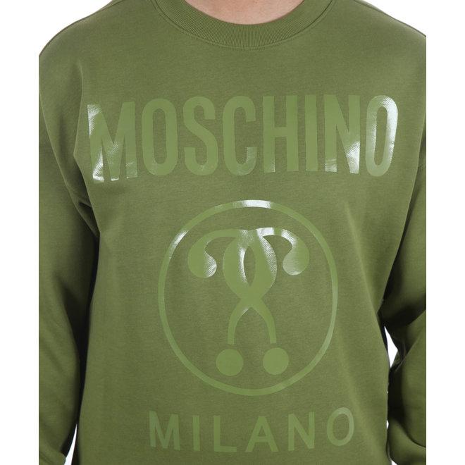 Moschino | Trui met opdruk groen | A 1704 7027 413