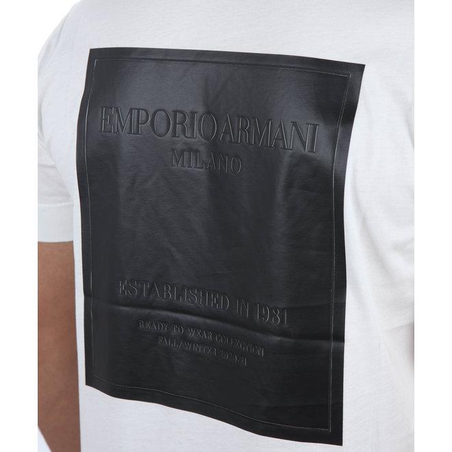 Emporio Armani   Wit T-shirt met backprint