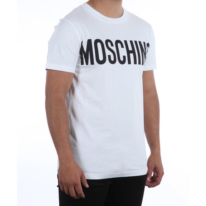 Moschino | Wit T-shirt met zwart logo | J 0705 7040 1001