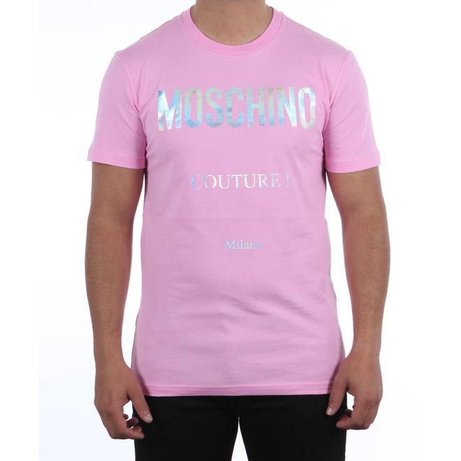 Moschino | T-shirt roze met reflective logo