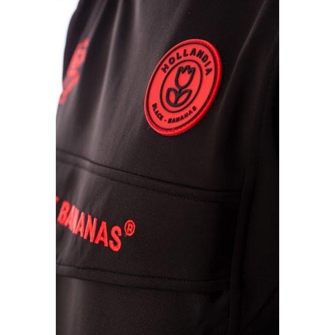 Black Bananas | Anorak Crewneck Trainingspak | Zwart met rood