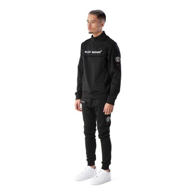 Black Bananas | Protect sweater met kraag zwart