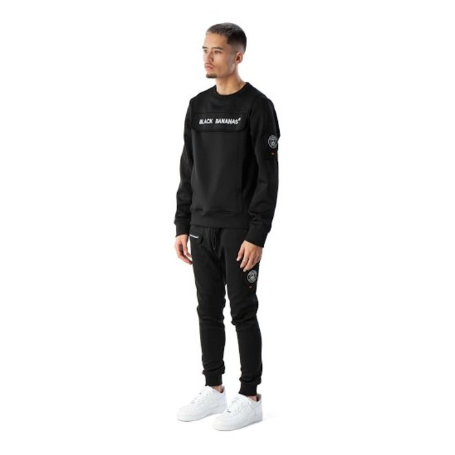 Black Bananas | Sweater protect crewneck zwart