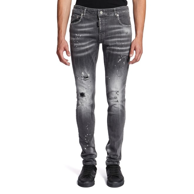 My Brand | Denim Grey Bleached Spotted Jeans