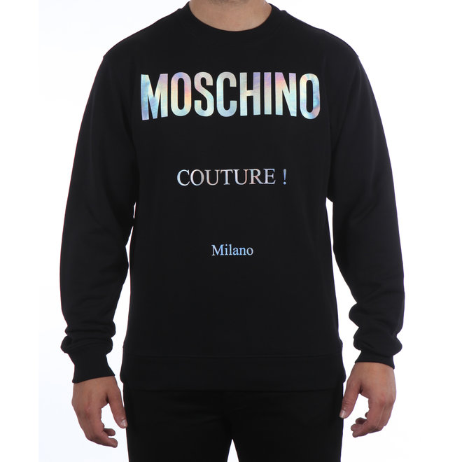Moschino | Sweater met reflective logo zwart