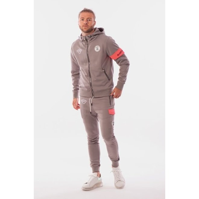 Black Bananas | Captain Tracksuit Grey Pink