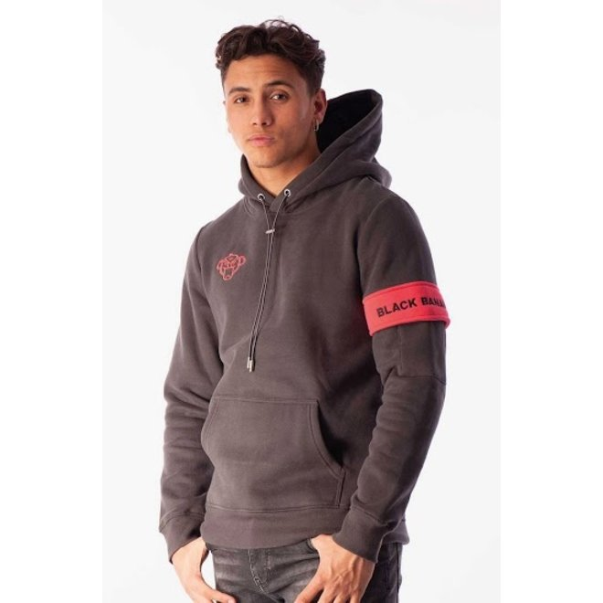 Black Bananas | Captain Hoody Charcoal Pink