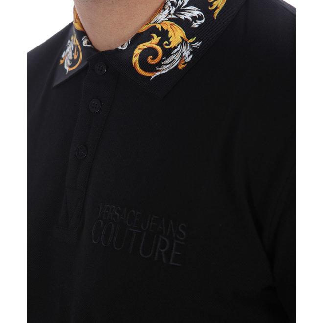 Versace Jeans Couture | Zwarte polo met print op de kraag